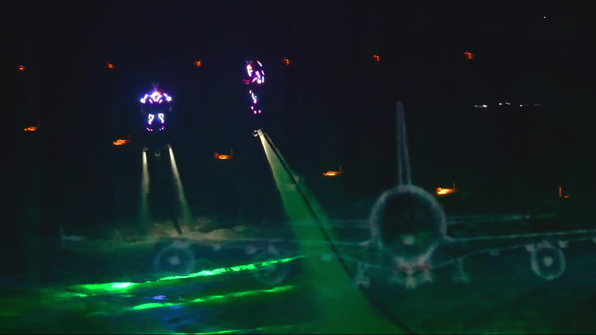 flyboard light show