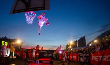 acrobatic basketball